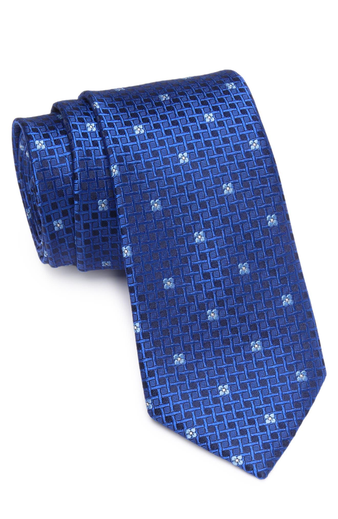 Image of Ted Baker London Basketweave Floral Silk Tie
