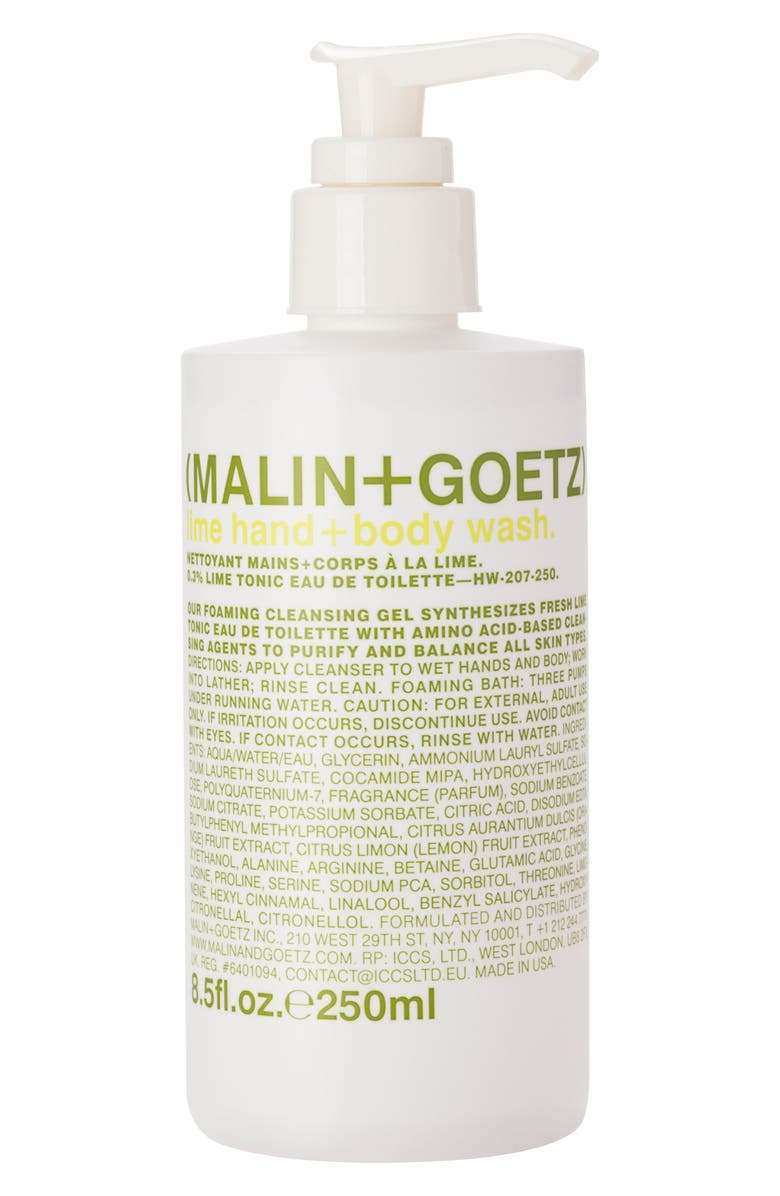 MALIN+GOETZ Lime Hand & Body Wash with Pump, Main, color, NO COLOR