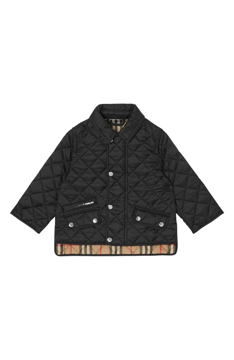 BURBERRY Brennan Jacket, Main, color, BLACK