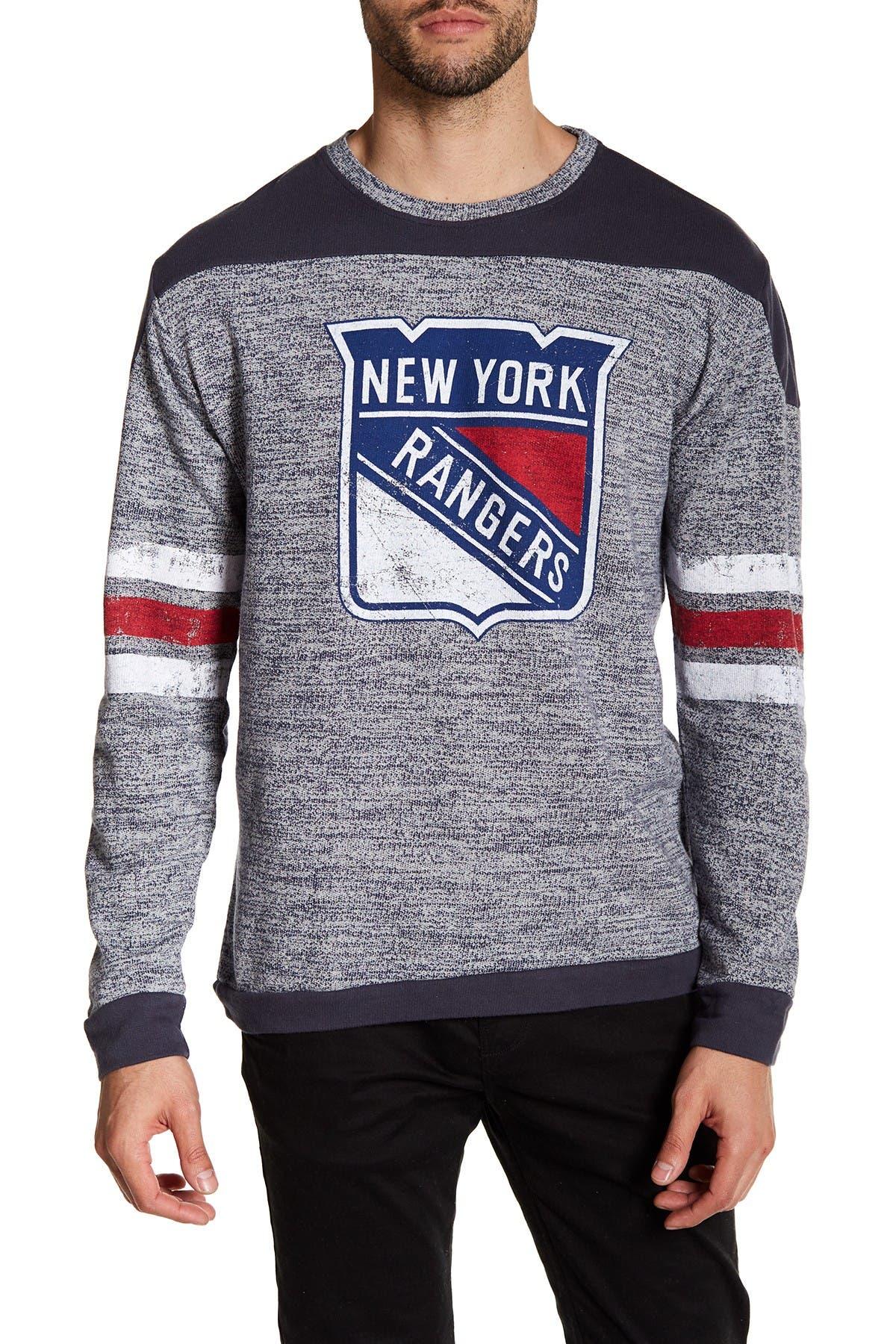 Image of American Needle NHL Preston Fleece NY Rangers Pullover