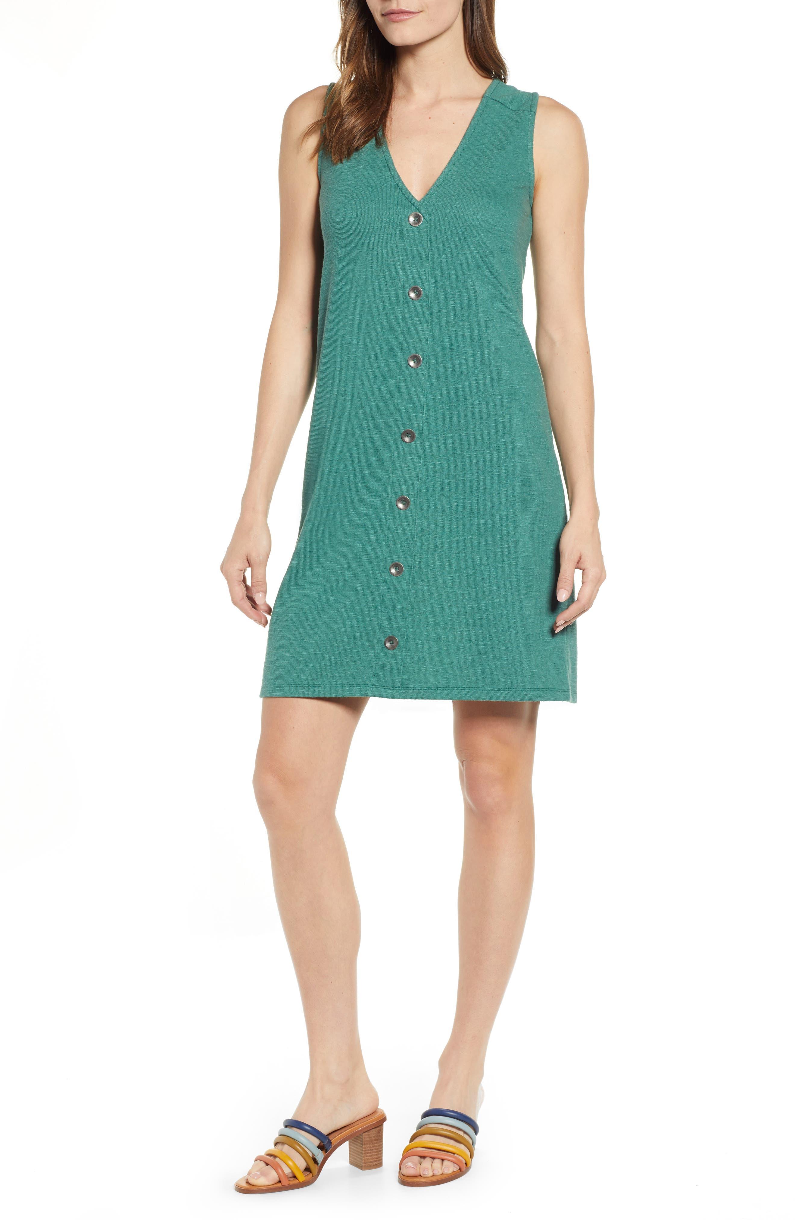 Caslon Knit Tank Dress, Green