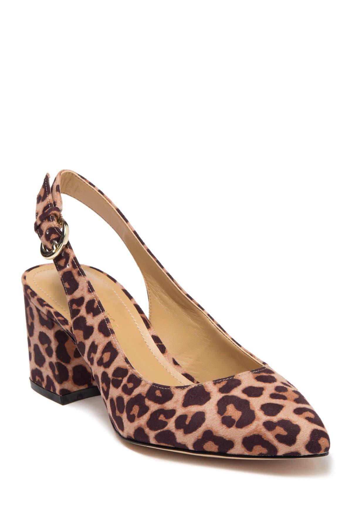 Thia Leopard Print Slingback Pump