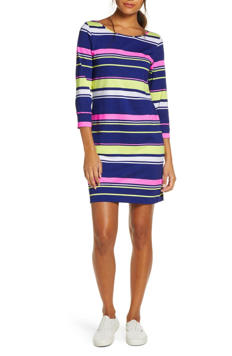 LILLY PULITZER<SUP>®</SUP> Marlowe Mixed Stripe T-Shirt Dress, Main, color, MULTI SUN STRIPE
