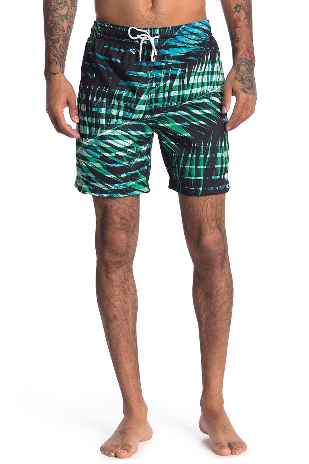 Image of Trunks Surf and Swim CO. Palm Print Swim Trunks