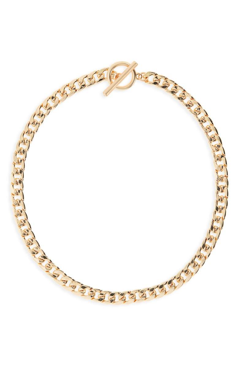 BP. Curb Link Collar Necklace, Main, color, 710
