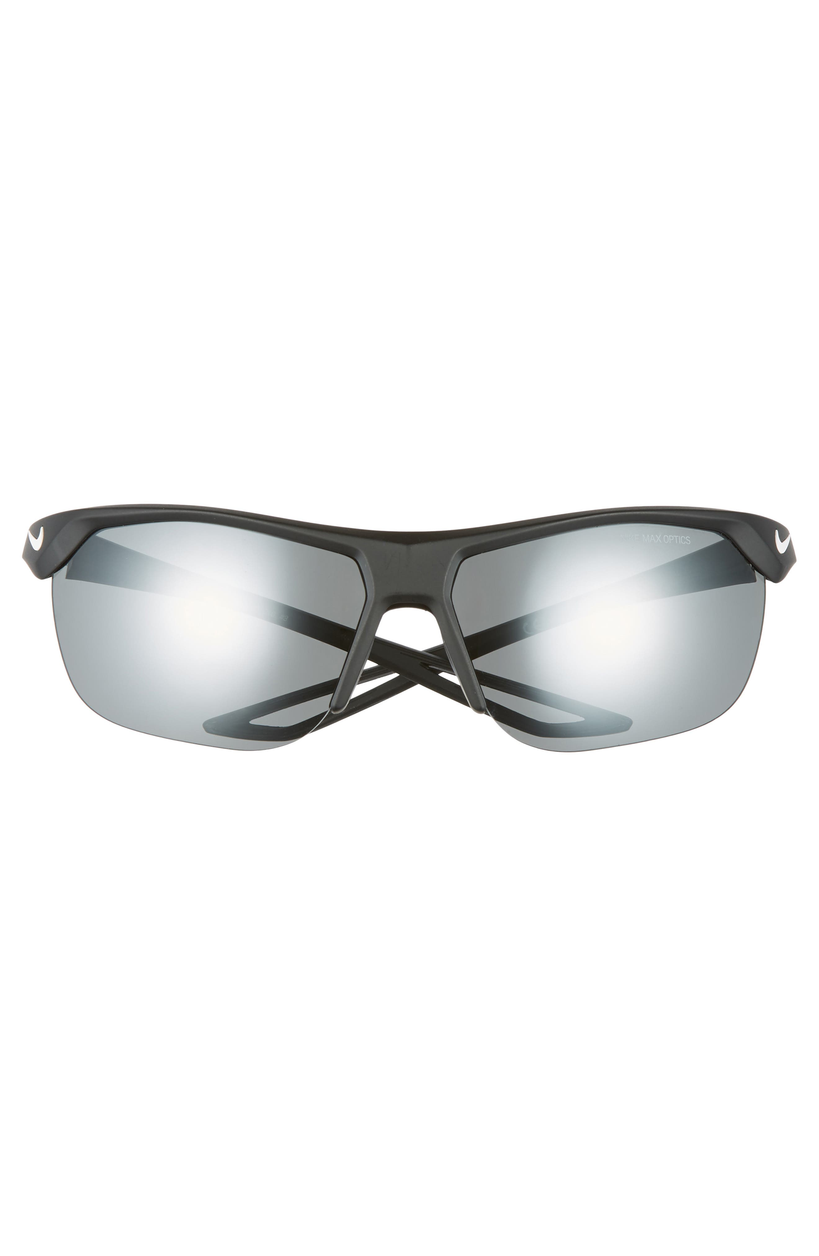 ,                             Trainer 63mm Mirrored Shield Sunglasses,                             Alternate thumbnail 3, color,                             BLACK/ GREY