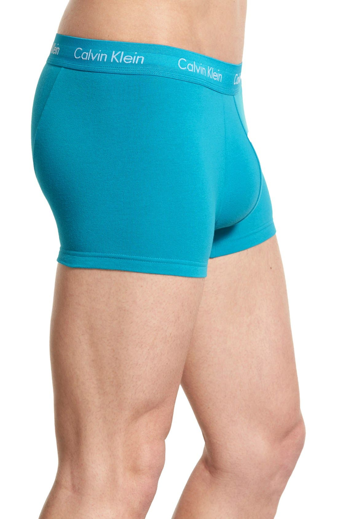 ,                             3-Pack Stretch Cotton Low Rise Trunks,                             Alternate thumbnail 165, color,                             402