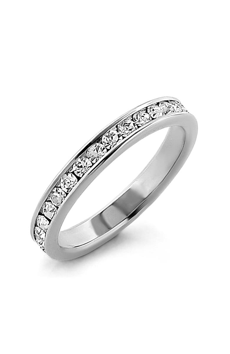 ARIELLA COLLECTION Cubic Zirconia Eternity Band Ring, Main, color, 040