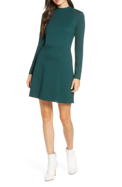 French Connection Dresses LULA LONG SLEEVE KNIT MINIDRESS