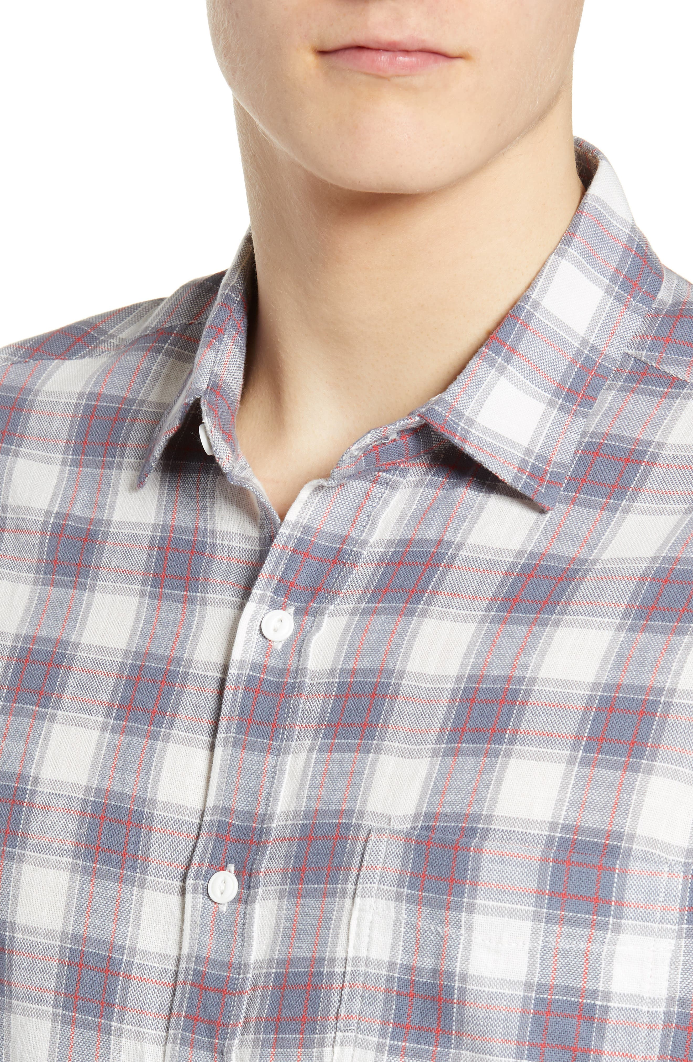 ,                             Wyatt Regular Fit Plaid Sport Shirt,                             Alternate thumbnail 2, color,                             OCEAN TANGERINE