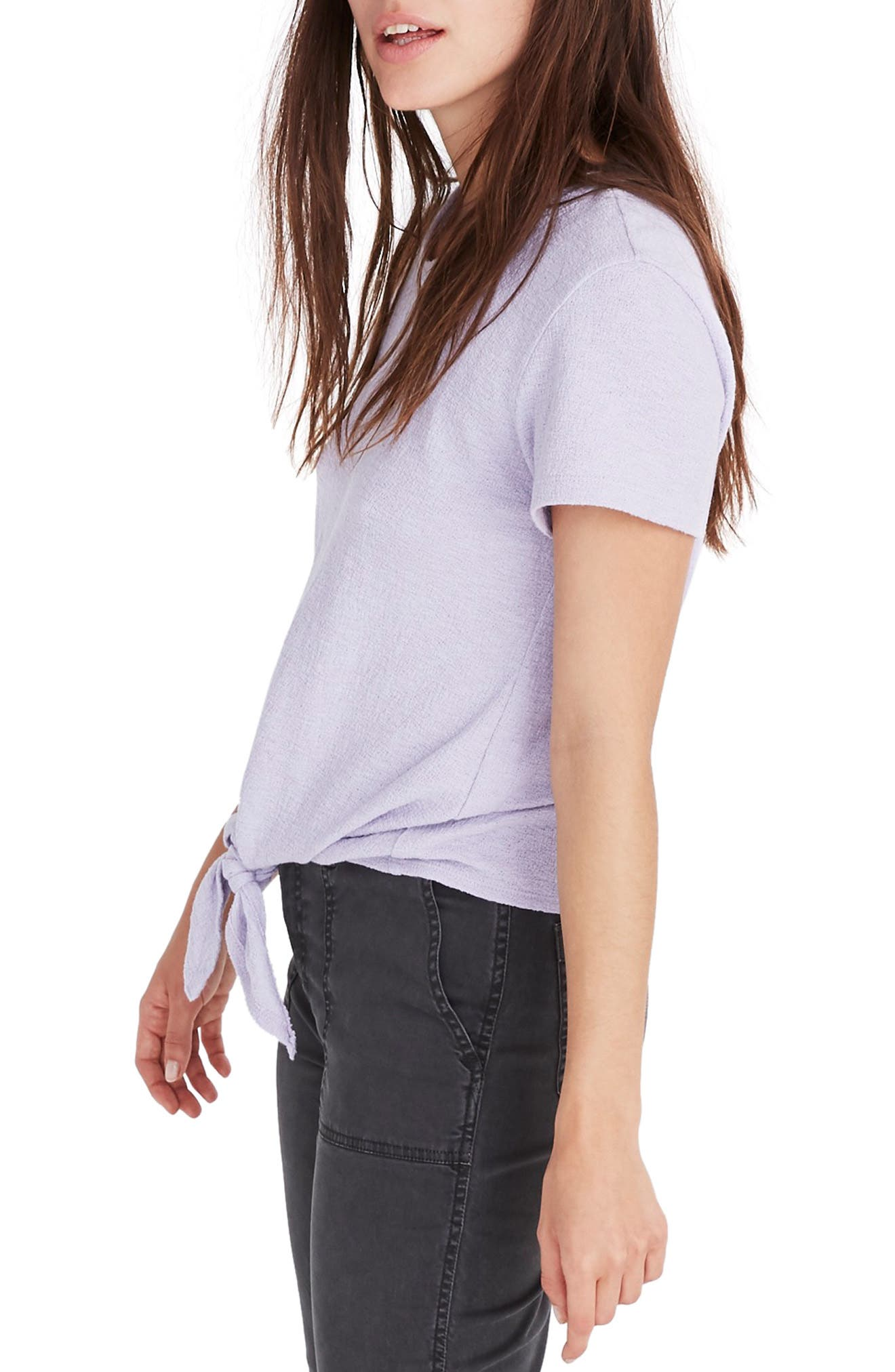 ,                             Modern Tie Front Tee,                             Alternate thumbnail 8, color,                             502
