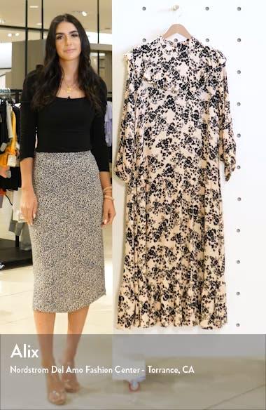 Floral Print Long Sleeve Prairie Dress, sales video thumbnail