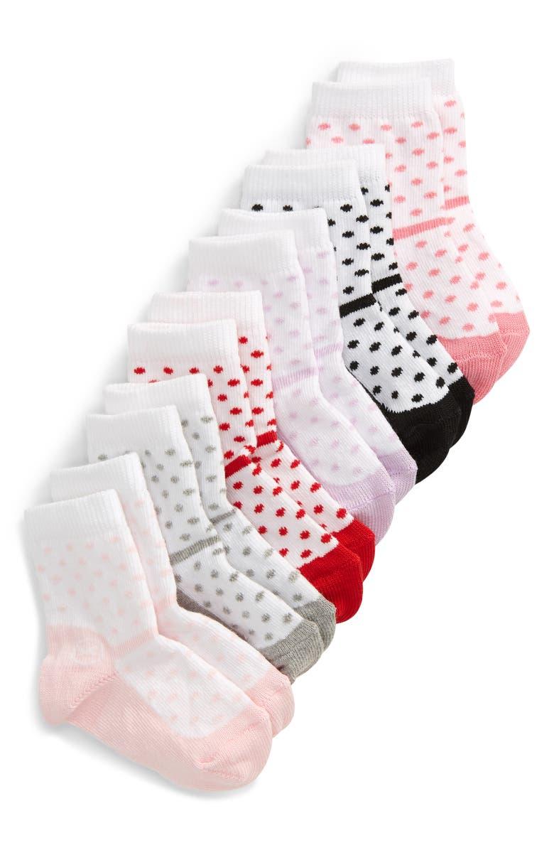 NORDSTROM 6-Pack Dressy Shoe Crew Socks, Main, color, WHITE MULTI PACK