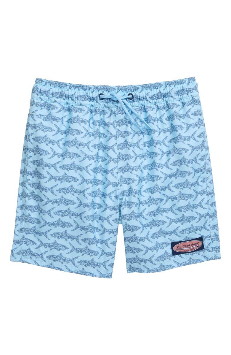 VINEYARD VINES Bonefish Sketch Chappy Swim Trunks, Main, color, JAKE BLUE