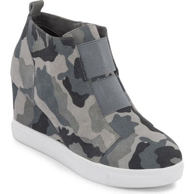 Blondo Gizella Waterproof Wedge Sneaker, Grey