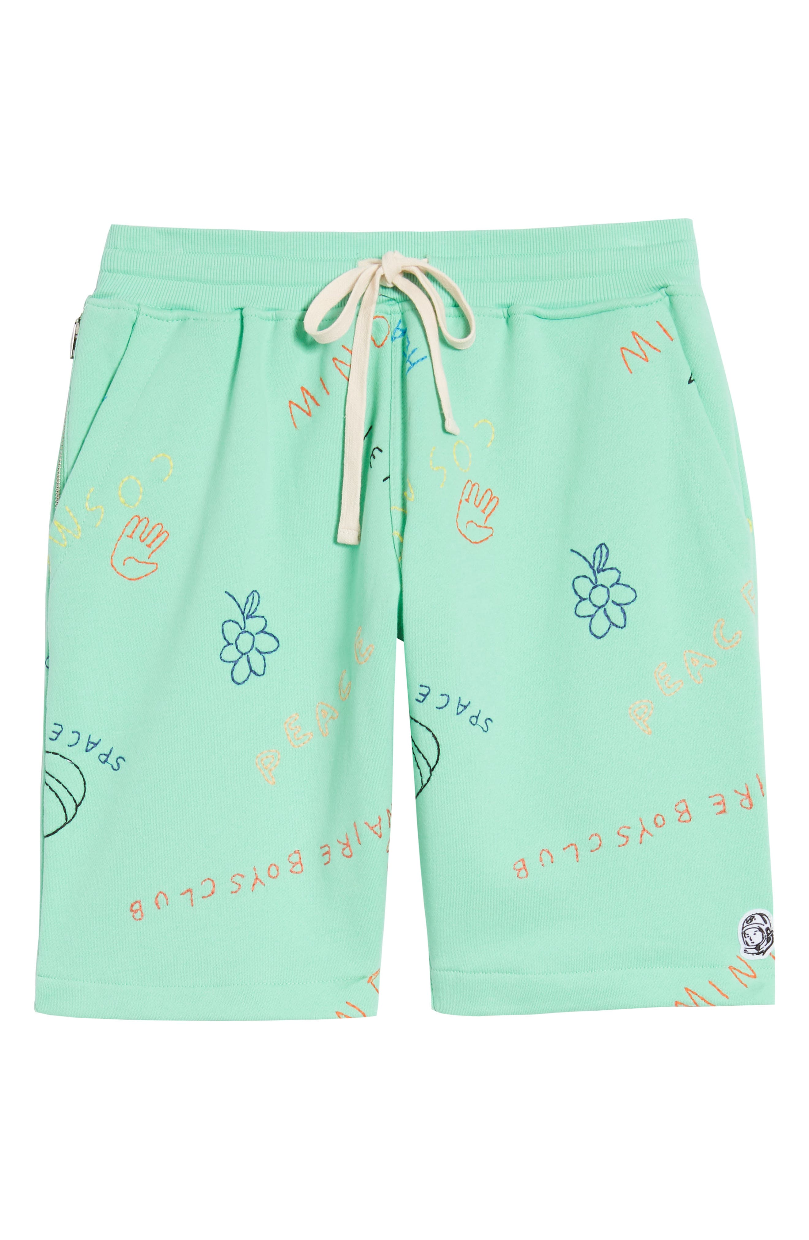Howme Mens Embroidered Cozy Elastic Waist Drawstring Board Shorts