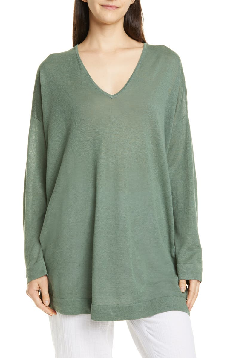 EILEEN FISHER V-Neck Tunic, Main, color, 354