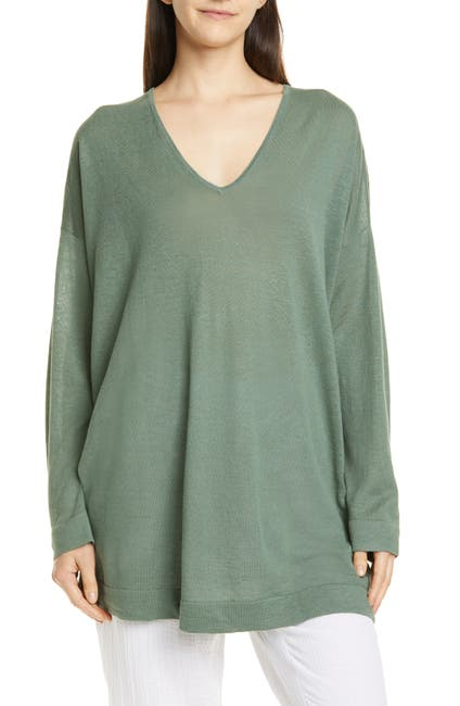 Image of Eileen Fisher V-Neck Tunic
