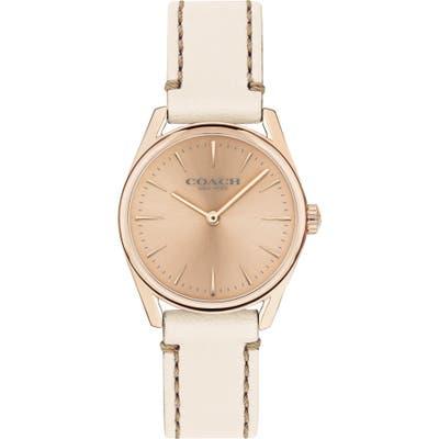 Coach Modern Luxury Leather Strap Watch, 2m