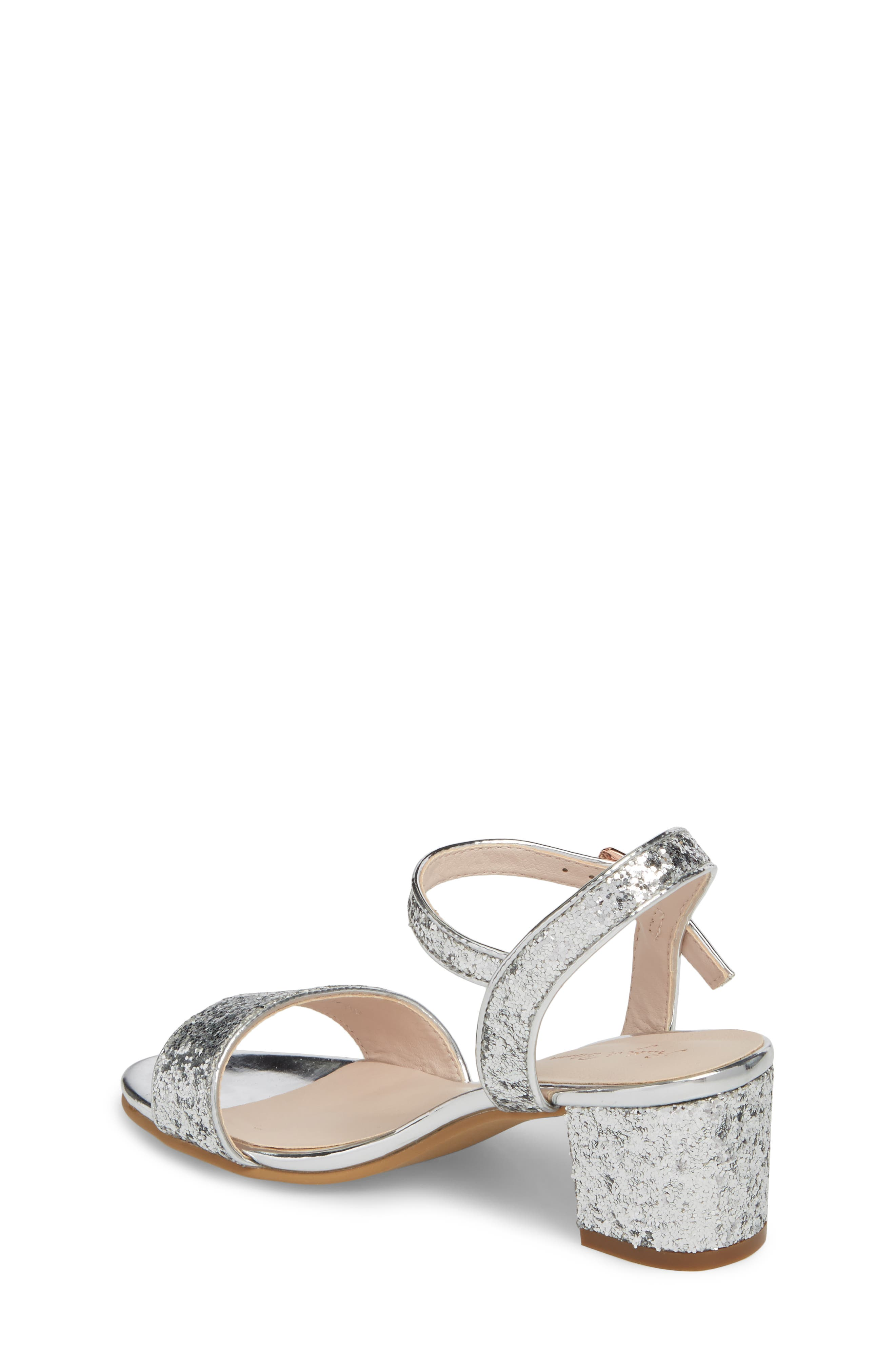 ,                             Danni Block Heel Sandal,                             Alternate thumbnail 2, color,                             SILVER GLITTER