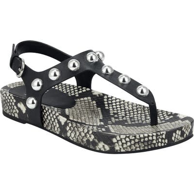 Marc Fisher Ltd Indie Studded Sandal- Black