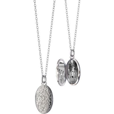 Monica Rich Kosann Floral Pattern Locket Necklace