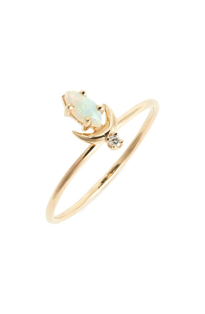 SOFIA ZAKIA Lvna Opal & Diamond Ring, Main, color, GOLD