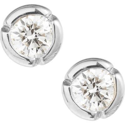 Bony Levy Large Bezel Diamond Stud Earrings (Nordstrom Exclusive)