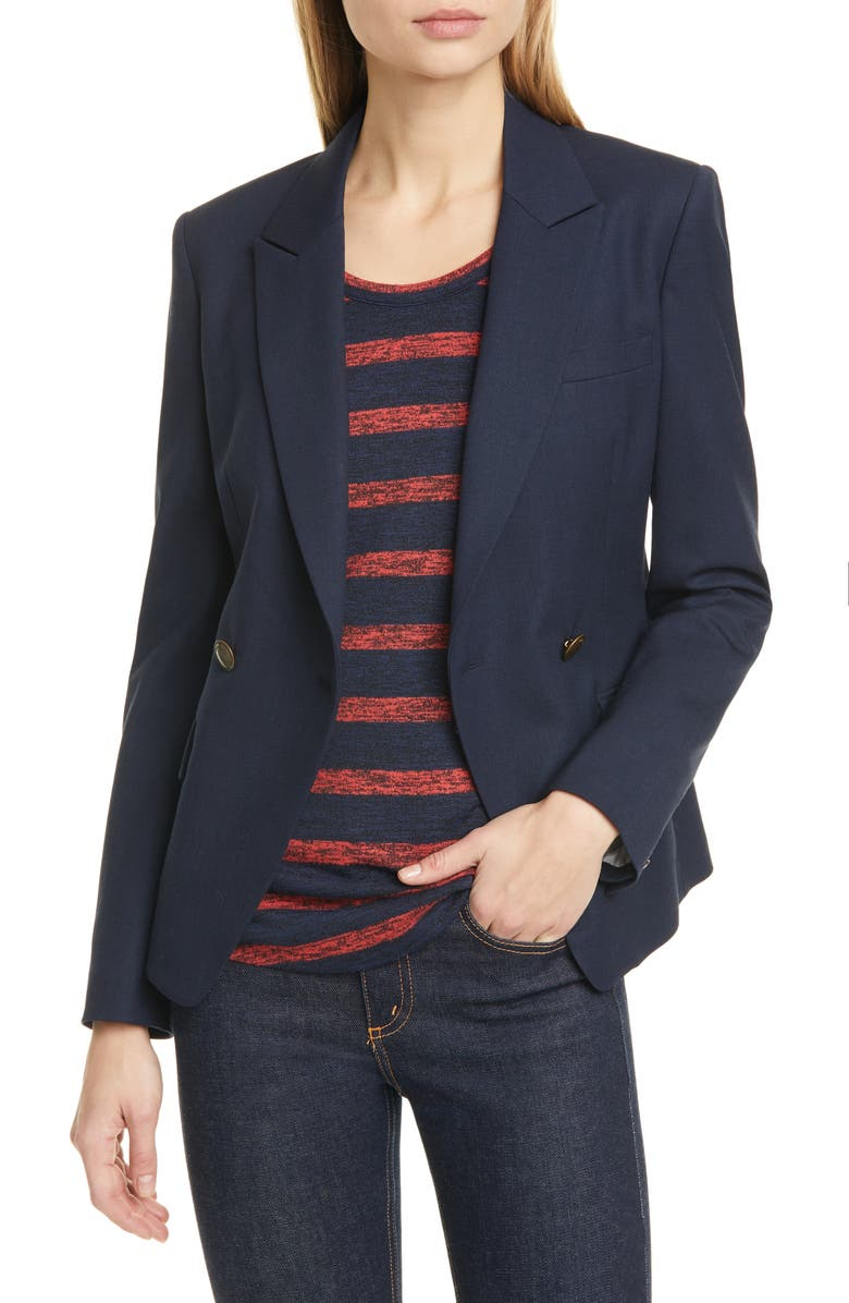 RAG & BONE Fletcher Wool Blend Twill Blazer, Main, color, 415