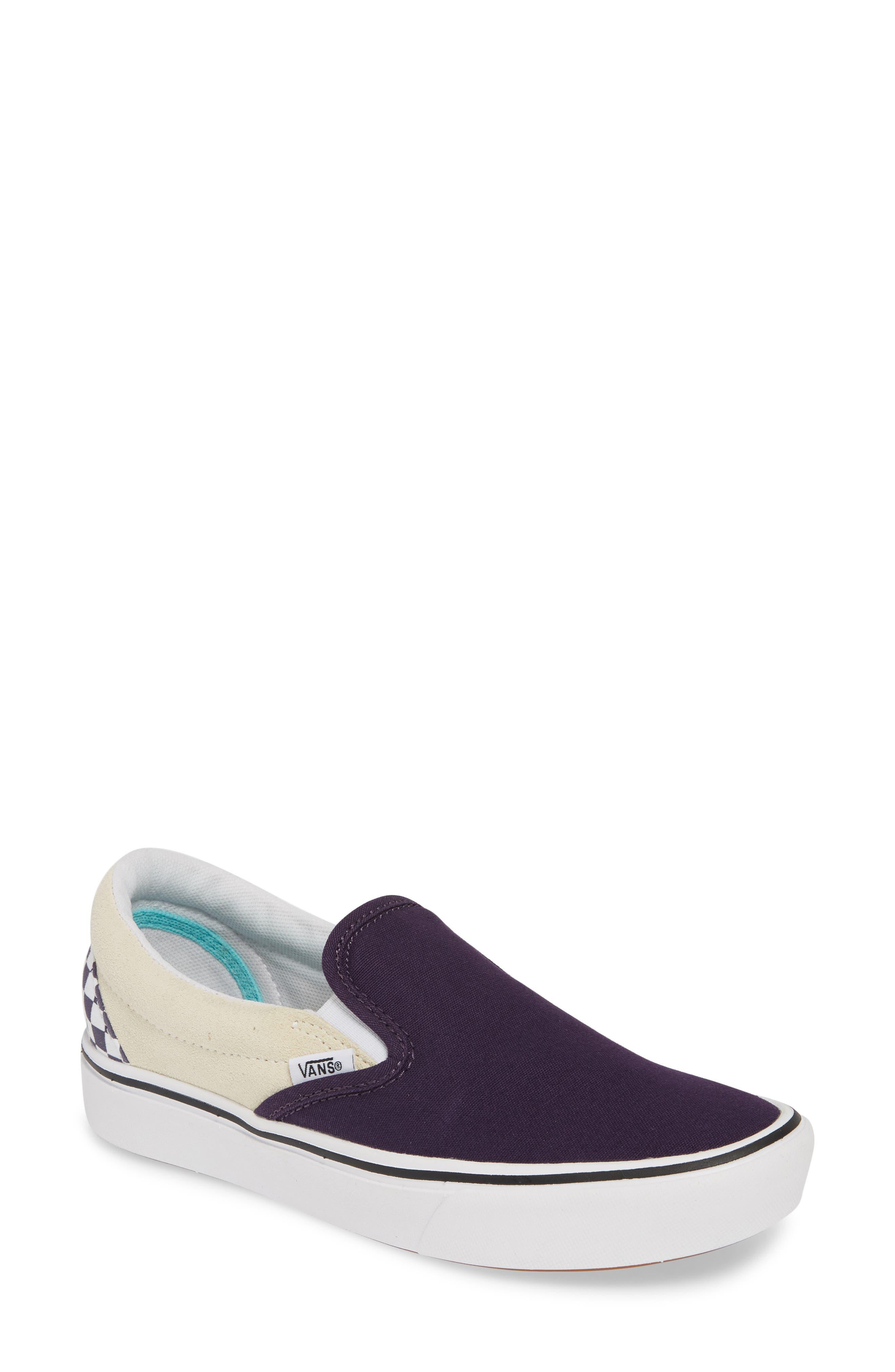 Vans Comfycush Colorblock Slip-On Sneaker- Blue