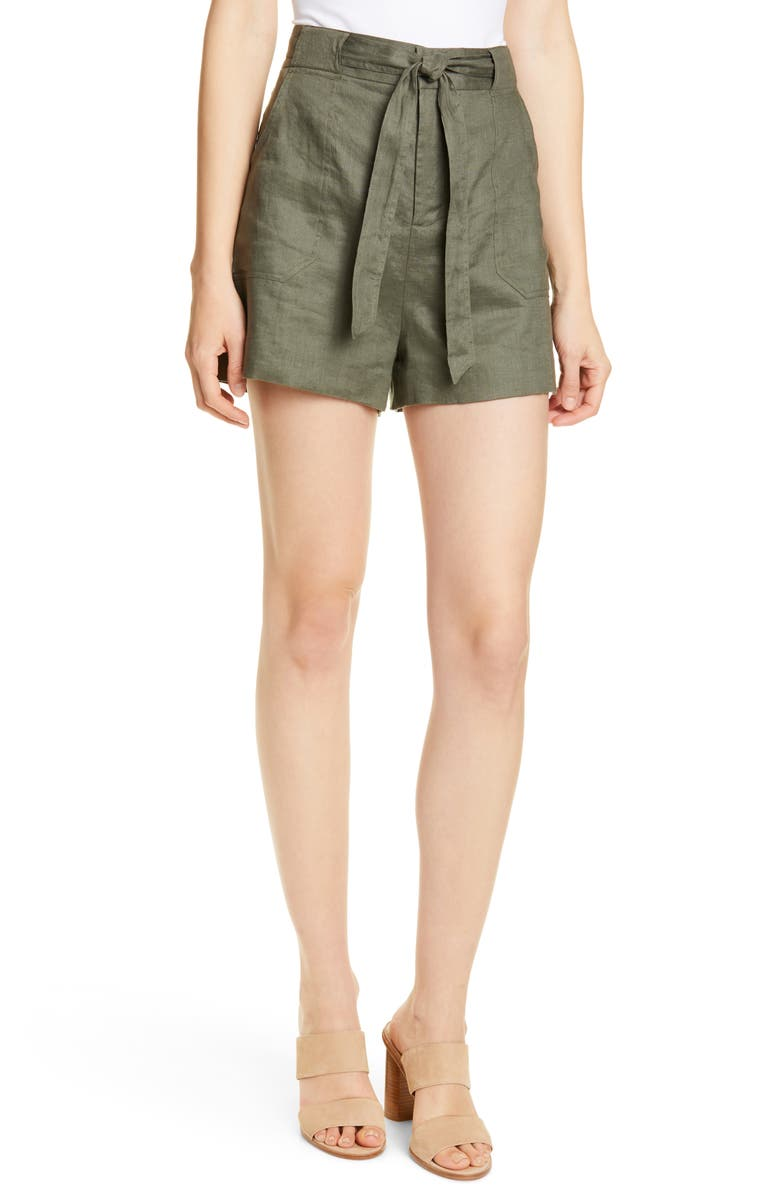 EQUIPMENT Taimee Linen Shorts, Main, color, 301
