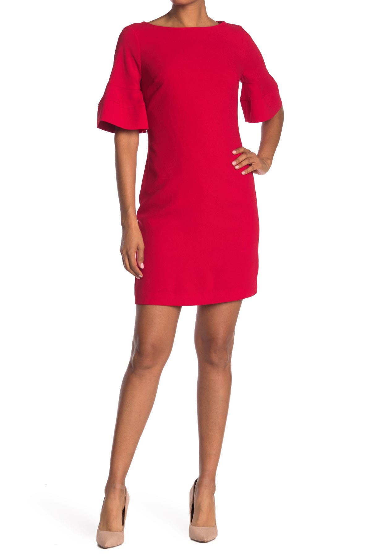 Image of Trina Turk Sojourn Bell Sleeve Sheath Dress