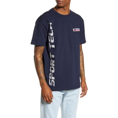 Tommy Jeans Tjm Sport Tech Logo Patch T-Shirt, Blue