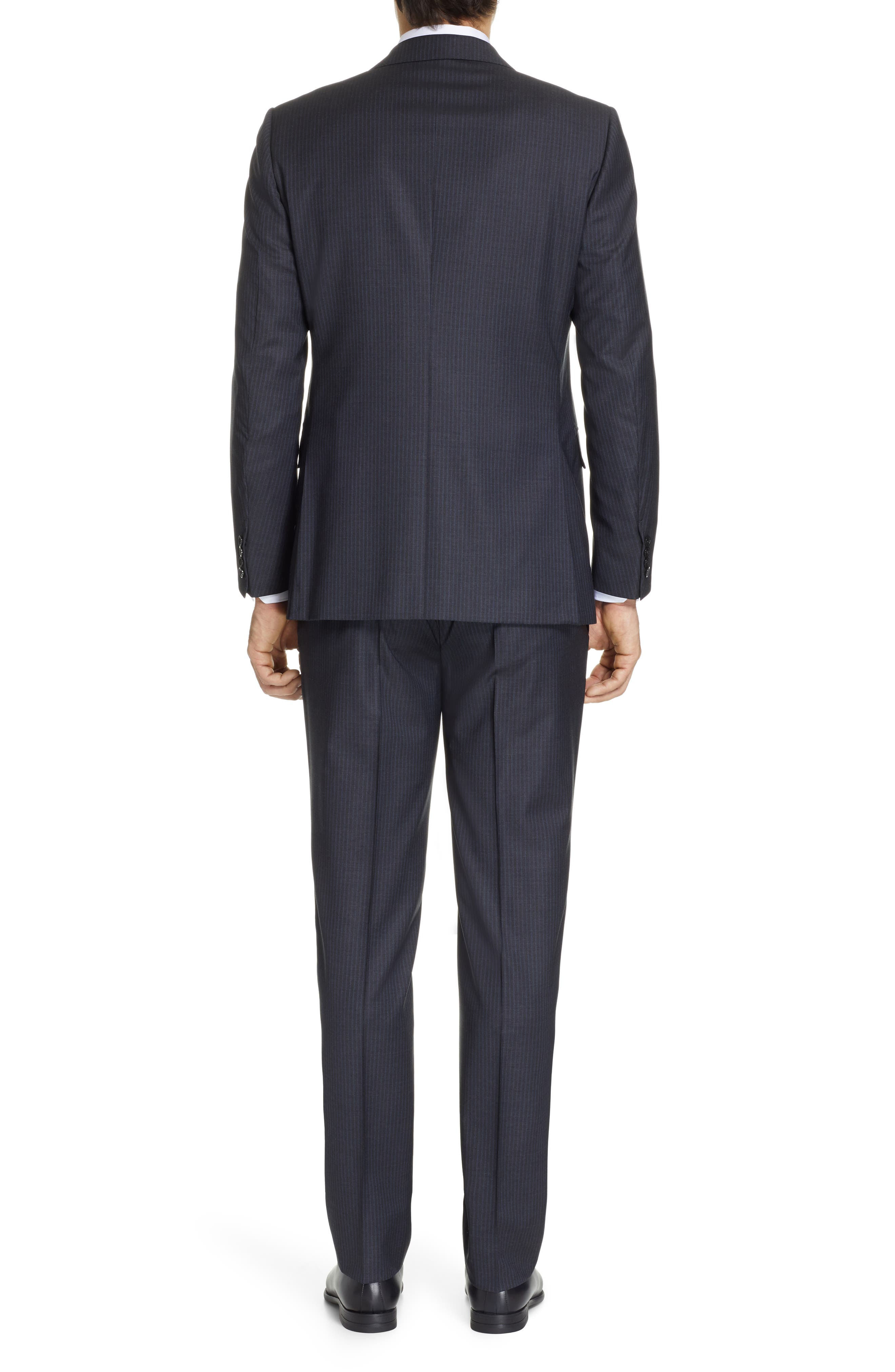 ,                             Milano Classic Fit Stripe Wool Suit,                             Alternate thumbnail 2, color,                             CHARCOAL