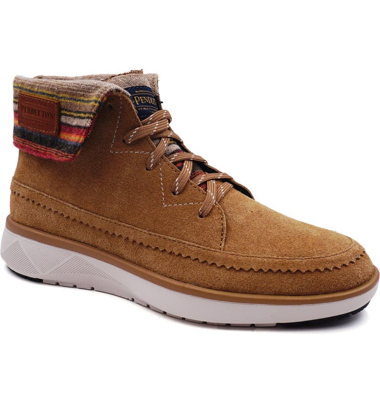 PENDLETON Rocky Flats High Top Sneaker, Main, color, TOASTED COCONUT LEATHER