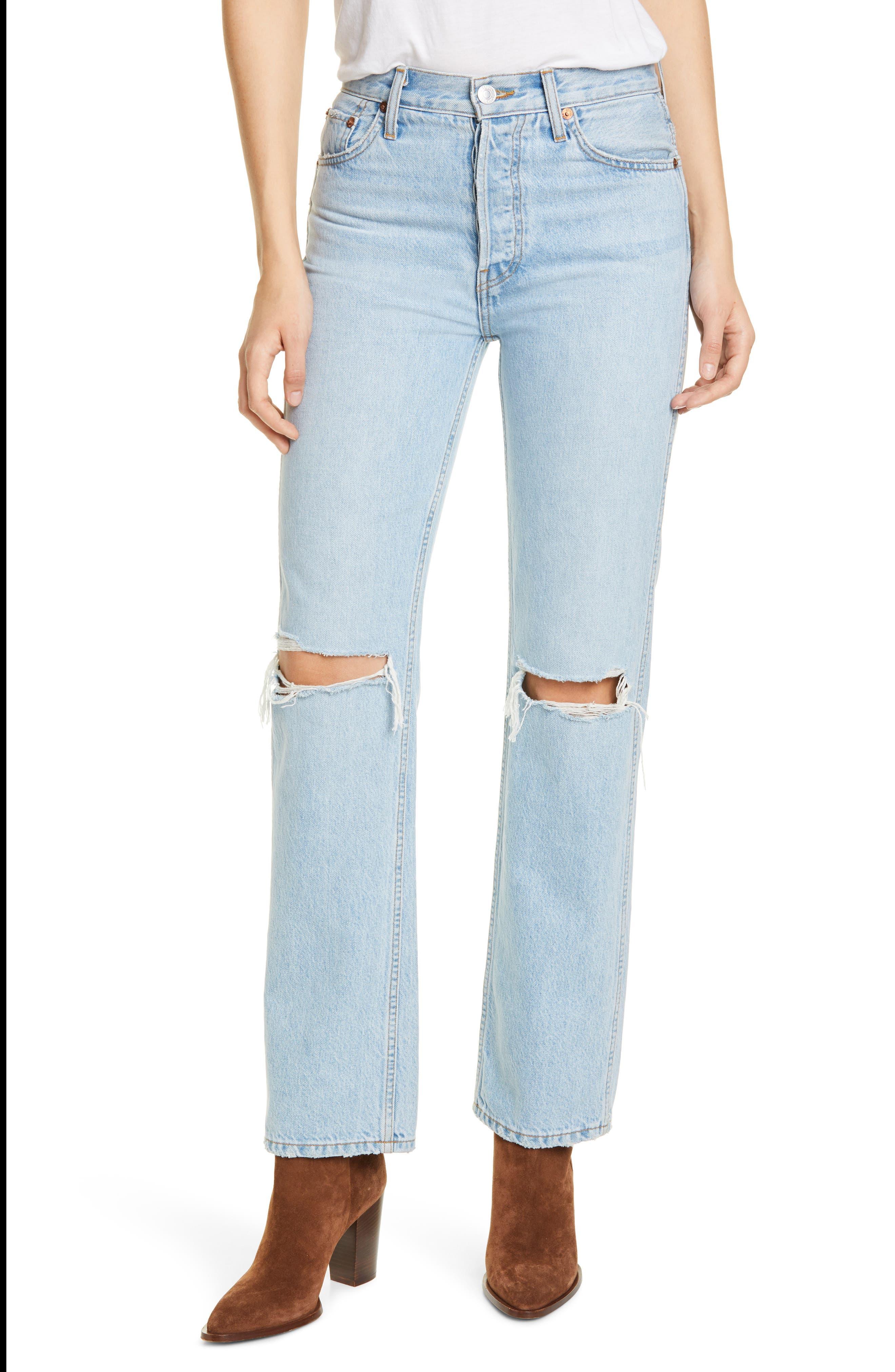 Women's Re/done Originals High Waist Loose Jeans,  30 - Blue