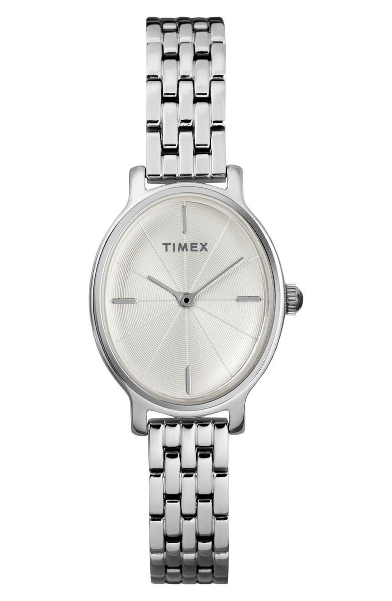 Timex Milano Oval Bracelet Watch 24mm