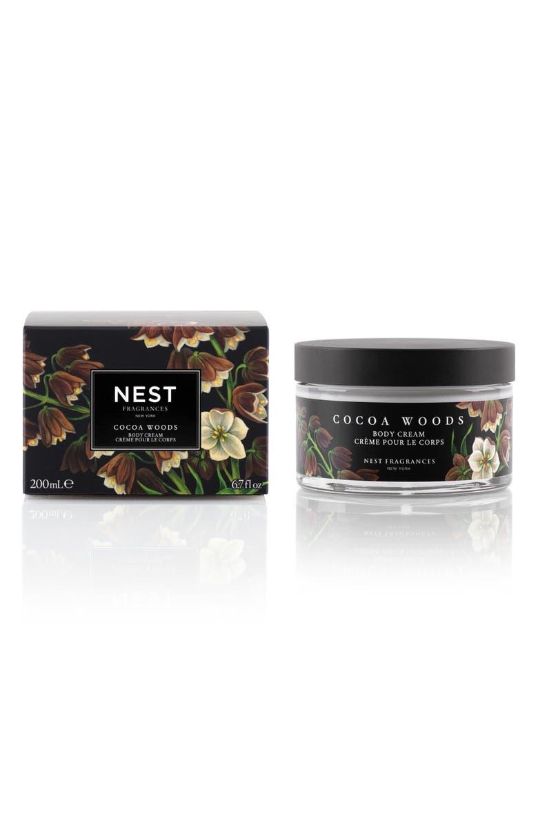 NEST FRAGRANCES Cocoa Woods Body Cream, Main, color, NO COLOR