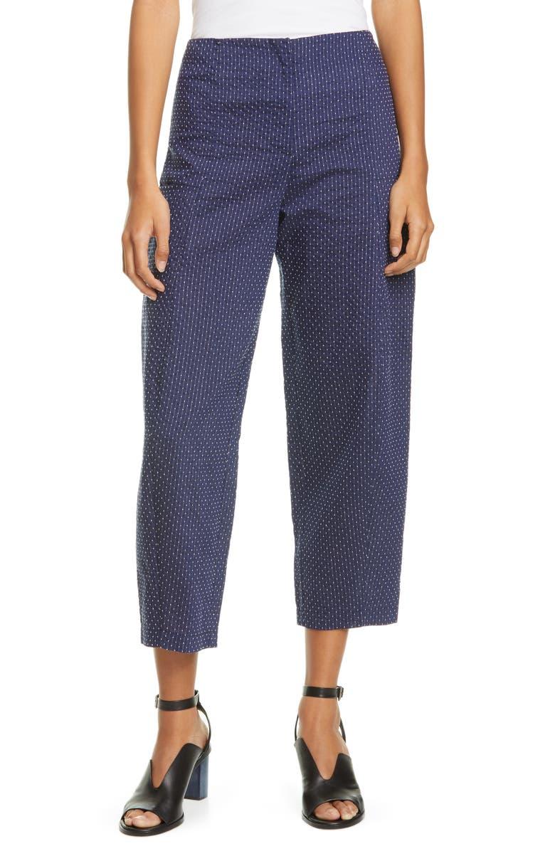ZERO + MARIA CORNEJO Margot Cotton Blend Crop Pants, Main, color, 400