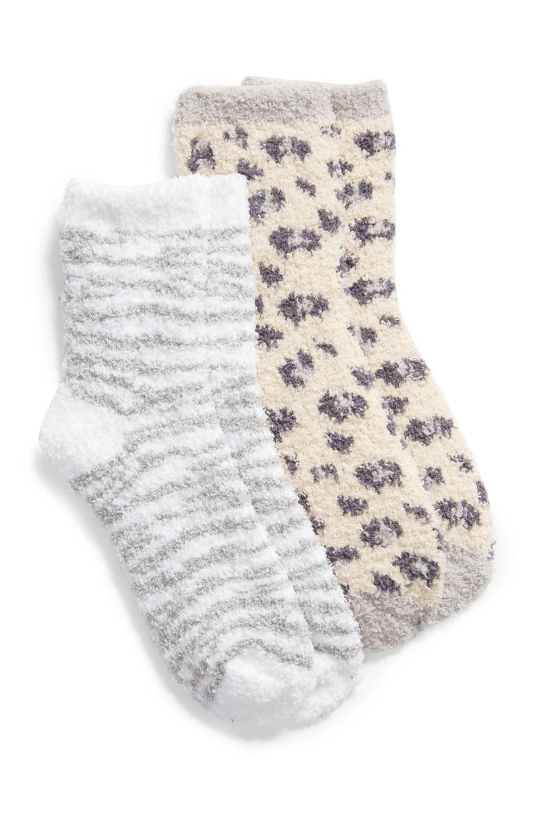 BP. 2-Pack Butter Crew Socks, Main, color, BEIGE WHISPER PHANTERA