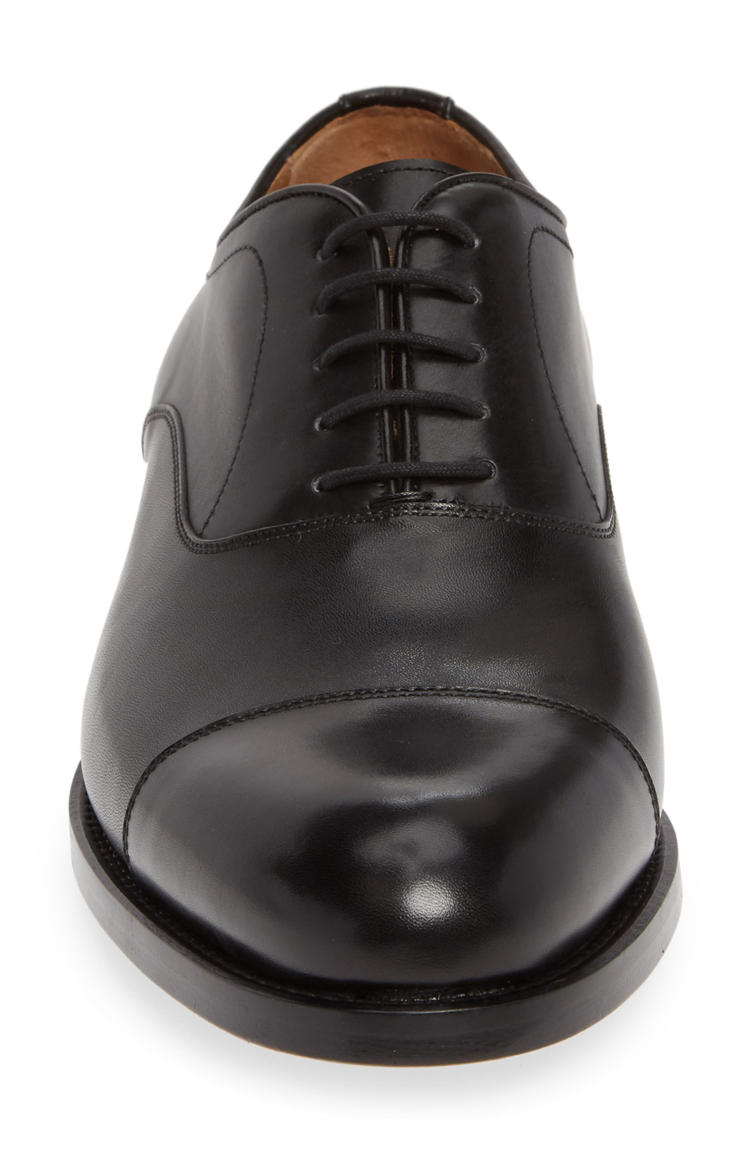 ,                             Jefferson Cap Toe Oxford,                             Alternate thumbnail 4, color,                             BLACK LEATHER