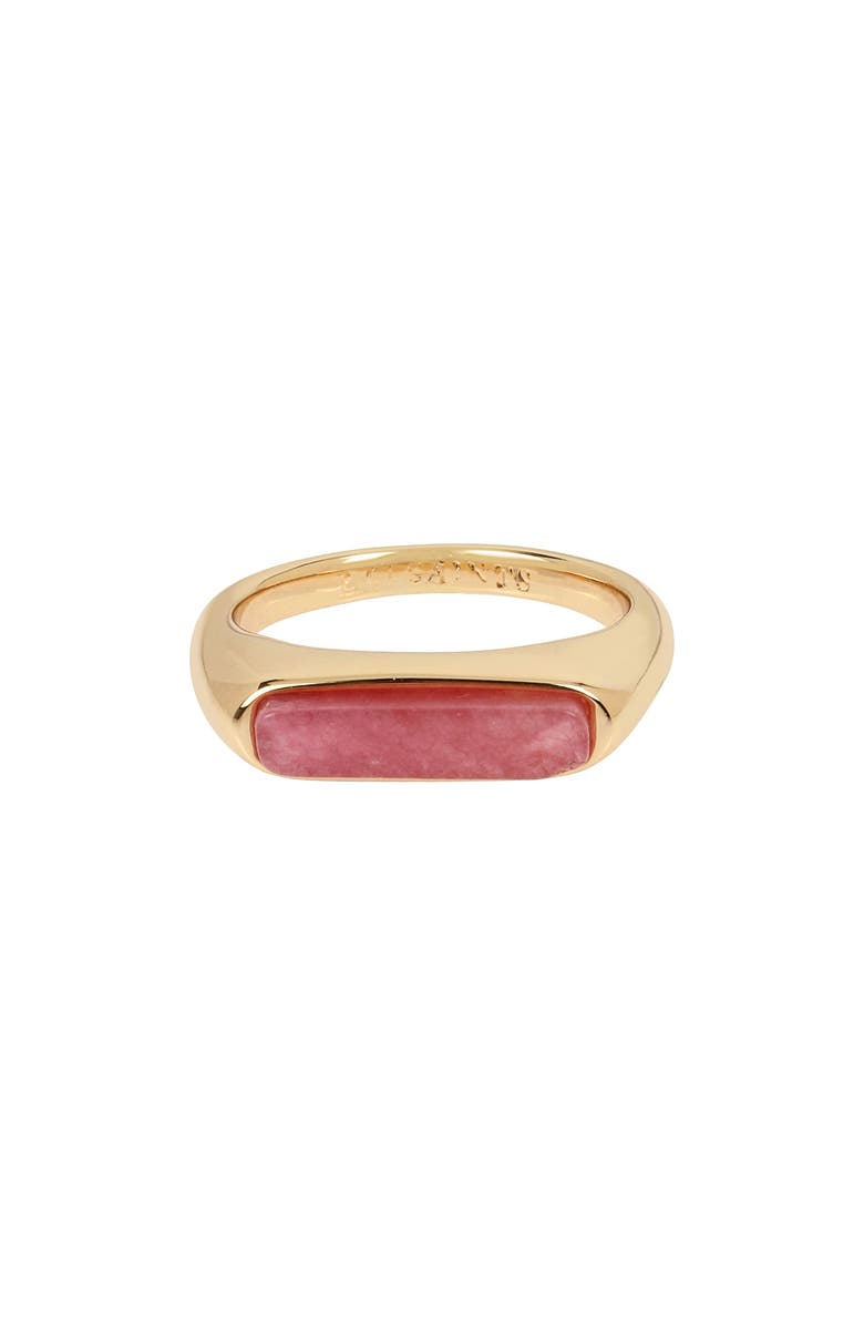 ALLSAINTS Stone Ring, Main, color, RHODOCHROSITE/ GOLD
