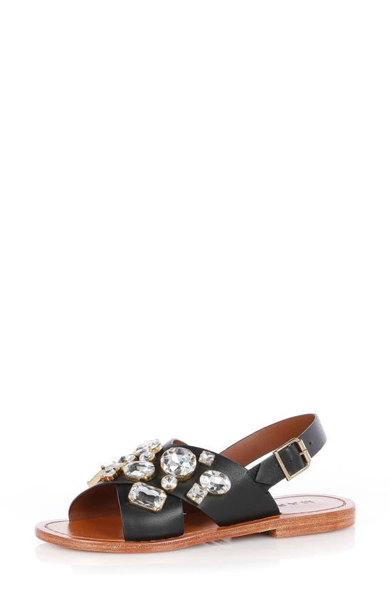 Marni Sandals CRYSTAL CRISSCROSS SLIDE SANDAL