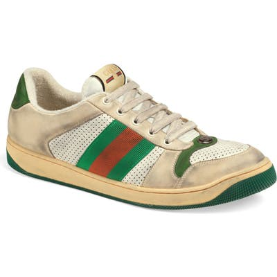 Gucci Screener Low Top Sneaker, Green