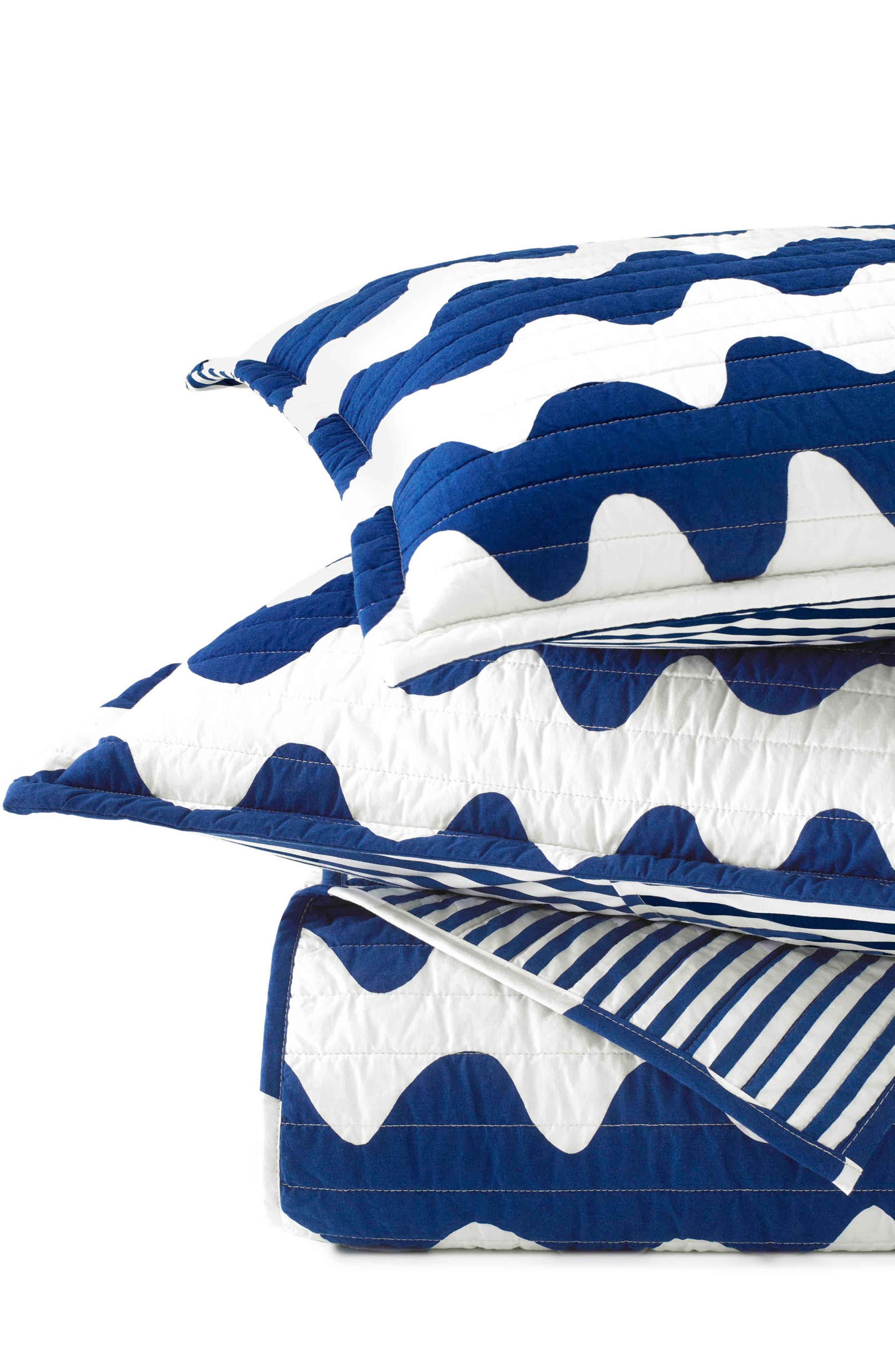 ,                             Pikku Lokki Quilt & Sham Set,                             Alternate thumbnail 3, color,                             BLUE