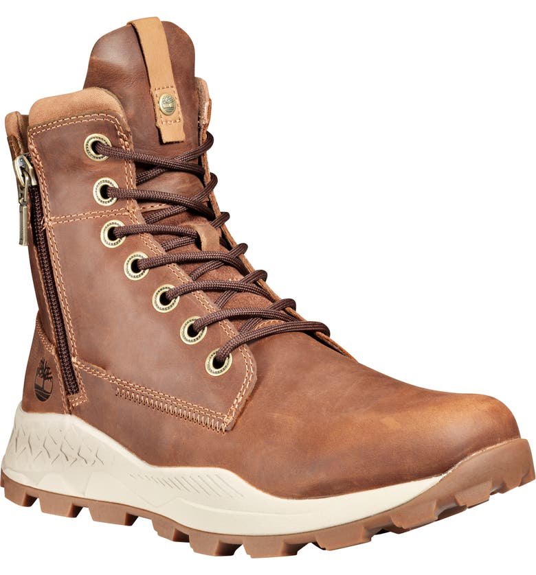 TIMBERLAND Brooklyn Waterproof Boot, Main, color, MEDIUM BROWN FULL GRAIN