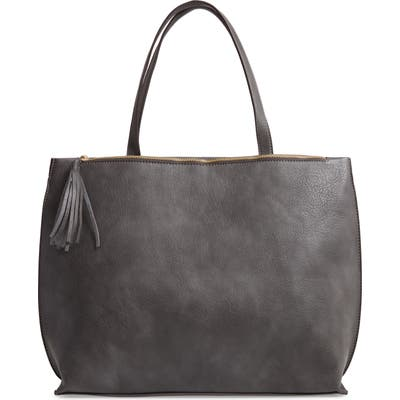 Sole Society Faux Leather Tote - Grey