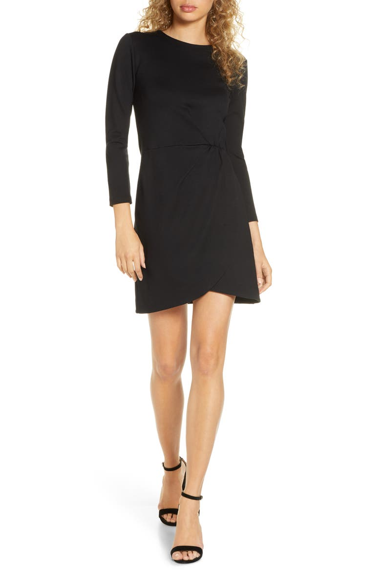 FRENCH CONNECTION Lula Long Sleeve Tulip Dress, Main, color, 001