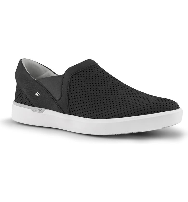KIZIK Vienna Hands-Free Slip-On Sneaker, Main, color, BLACK LEATHER