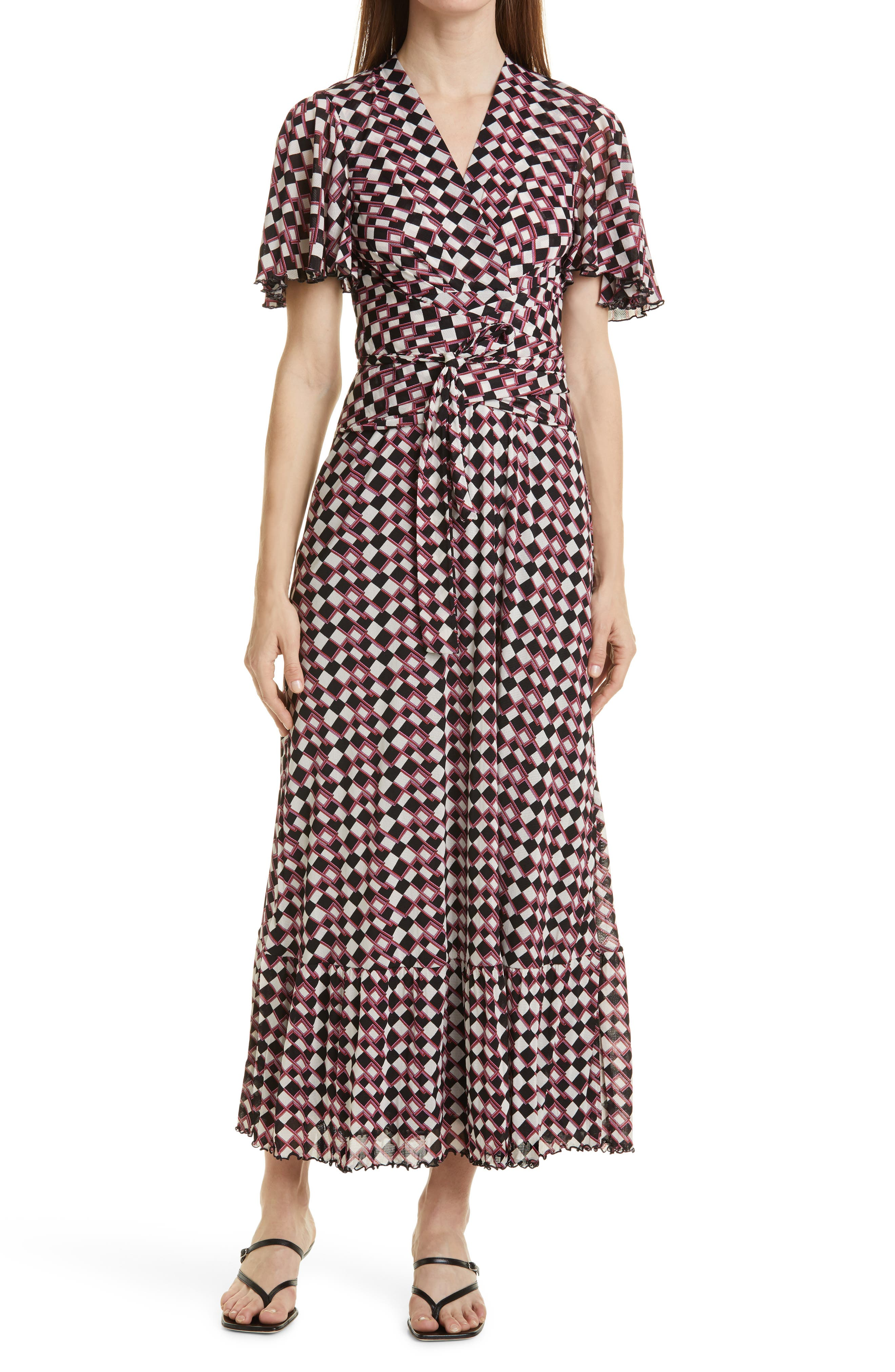 Alison Flutter Sleeve Maxi Dress